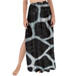SKIN1 BLACK MARBLE & ICE CRYSTALS Maxi Chiffon Tie-Up Sarong