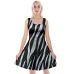 SKIN3 BLACK MARBLE & ICE CRYSTALS (R) Reversible Velvet Sleeveless Dress