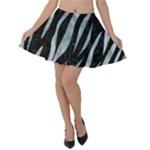 SKIN3 BLACK MARBLE & ICE CRYSTALS (R) Velvet Skater Skirt