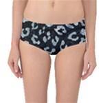 SKIN5 BLACK MARBLE & ICE CRYSTALS Mid-Waist Bikini Bottoms
