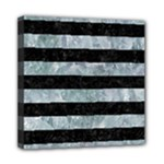 STRIPES2 BLACK MARBLE & ICE CRYSTALS Mini Canvas 8  x 8