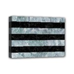 STRIPES2 BLACK MARBLE & ICE CRYSTALS Mini Canvas 7  x 5