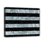 STRIPES2 BLACK MARBLE & ICE CRYSTALS Canvas 10  x 8