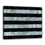 STRIPES2 BLACK MARBLE & ICE CRYSTALS Canvas 20  x 16