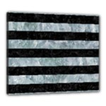 STRIPES2 BLACK MARBLE & ICE CRYSTALS Canvas 24  x 20