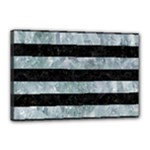 STRIPES2 BLACK MARBLE & ICE CRYSTALS Canvas 18  x 12