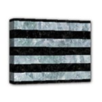 STRIPES2 BLACK MARBLE & ICE CRYSTALS Deluxe Canvas 14  x 11