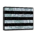STRIPES2 BLACK MARBLE & ICE CRYSTALS Deluxe Canvas 16  x 12