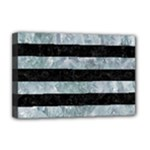 STRIPES2 BLACK MARBLE & ICE CRYSTALS Deluxe Canvas 18  x 12