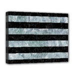 STRIPES2 BLACK MARBLE & ICE CRYSTALS Deluxe Canvas 20  x 16