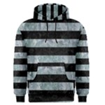 STRIPES2 BLACK MARBLE & ICE CRYSTALS Men s Pullover Hoodie