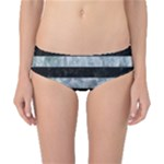 STRIPES2 BLACK MARBLE & ICE CRYSTALS Classic Bikini Bottoms