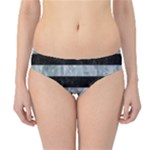 STRIPES2 BLACK MARBLE & ICE CRYSTALS Hipster Bikini Bottoms