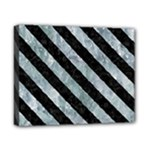 STRIPES3 BLACK MARBLE & ICE CRYSTALS Canvas 10  x 8