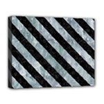 STRIPES3 BLACK MARBLE & ICE CRYSTALS Deluxe Canvas 20  x 16