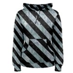 STRIPES3 BLACK MARBLE & ICE CRYSTALS Women s Pullover Hoodie