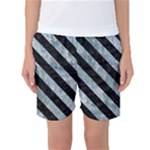 STRIPES3 BLACK MARBLE & ICE CRYSTALS Women s Basketball Shorts
