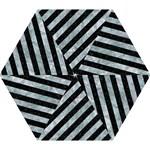 STRIPES3 BLACK MARBLE & ICE CRYSTALS (R) Mini Folding Umbrellas
