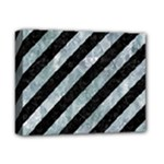 STRIPES3 BLACK MARBLE & ICE CRYSTALS (R) Deluxe Canvas 14  x 11