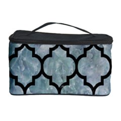Tile1 Black Marble & Ice Crystals Cosmetic Storage Case by trendistuff