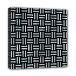 WOVEN1 BLACK MARBLE & ICE CRYSTALS (R) Mini Canvas 8  x 8