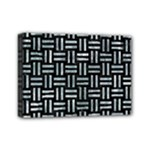 WOVEN1 BLACK MARBLE & ICE CRYSTALS (R) Mini Canvas 7  x 5