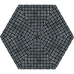 WOVEN1 BLACK MARBLE & ICE CRYSTALS (R) Mini Folding Umbrellas