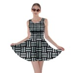 WOVEN1 BLACK MARBLE & ICE CRYSTALS (R) Skater Dress