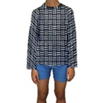 WOVEN1 BLACK MARBLE & ICE CRYSTALS (R) Kids  Long Sleeve Swimwear