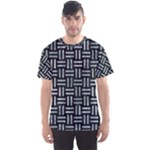 WOVEN1 BLACK MARBLE & ICE CRYSTALS (R) Men s Sports Mesh Tee