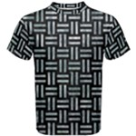 WOVEN1 BLACK MARBLE & ICE CRYSTALS (R) Men s Cotton Tee