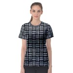 WOVEN1 BLACK MARBLE & ICE CRYSTALS (R) Women s Sport Mesh Tee