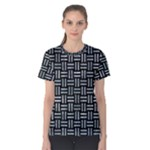 WOVEN1 BLACK MARBLE & ICE CRYSTALS (R) Women s Cotton Tee