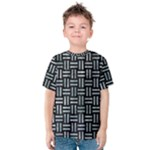 WOVEN1 BLACK MARBLE & ICE CRYSTALS (R) Kids  Cotton Tee
