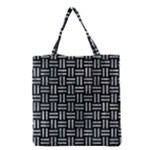 WOVEN1 BLACK MARBLE & ICE CRYSTALS (R) Grocery Tote Bag