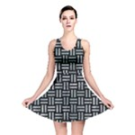 WOVEN1 BLACK MARBLE & ICE CRYSTALS (R) Reversible Skater Dress