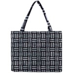 WOVEN1 BLACK MARBLE & ICE CRYSTALS (R) Mini Tote Bag