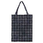 WOVEN1 BLACK MARBLE & ICE CRYSTALS (R) Classic Tote Bag