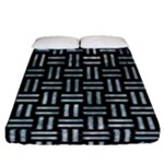 WOVEN1 BLACK MARBLE & ICE CRYSTALS (R) Fitted Sheet (Queen Size)
