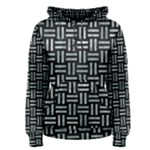 WOVEN1 BLACK MARBLE & ICE CRYSTALS (R) Women s Pullover Hoodie