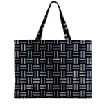 WOVEN1 BLACK MARBLE & ICE CRYSTALS (R) Zipper Mini Tote Bag