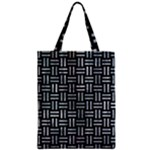 WOVEN1 BLACK MARBLE & ICE CRYSTALS (R) Zipper Classic Tote Bag