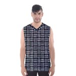 WOVEN1 BLACK MARBLE & ICE CRYSTALS (R) Men s Basketball Tank Top