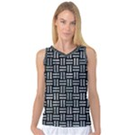 WOVEN1 BLACK MARBLE & ICE CRYSTALS (R) Women s Basketball Tank Top