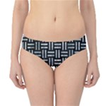WOVEN1 BLACK MARBLE & ICE CRYSTALS (R) Hipster Bikini Bottoms