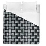 WOVEN1 BLACK MARBLE & ICE CRYSTALS (R) Duvet Cover (Queen Size)