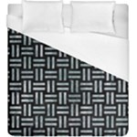 WOVEN1 BLACK MARBLE & ICE CRYSTALS (R) Duvet Cover (King Size)