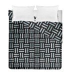 WOVEN1 BLACK MARBLE & ICE CRYSTALS (R) Duvet Cover Double Side (Full/ Double Size)