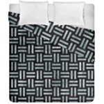 WOVEN1 BLACK MARBLE & ICE CRYSTALS (R) Duvet Cover Double Side (California King Size)