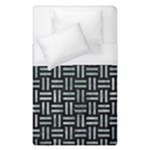 WOVEN1 BLACK MARBLE & ICE CRYSTALS (R) Duvet Cover (Single Size)